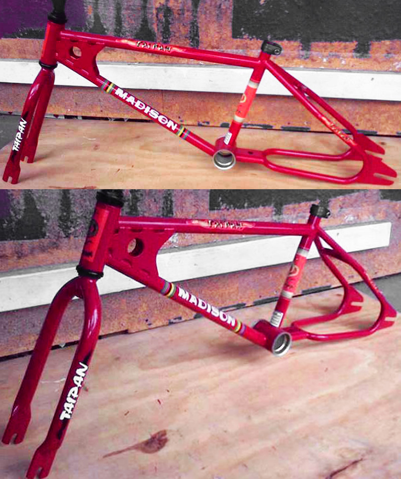 Top tube decal Madison old school bmx MXR20 WHITE with BLACK