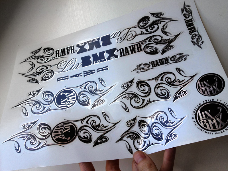 LixBMX RAWR Custom Pro decal set design by Lix N