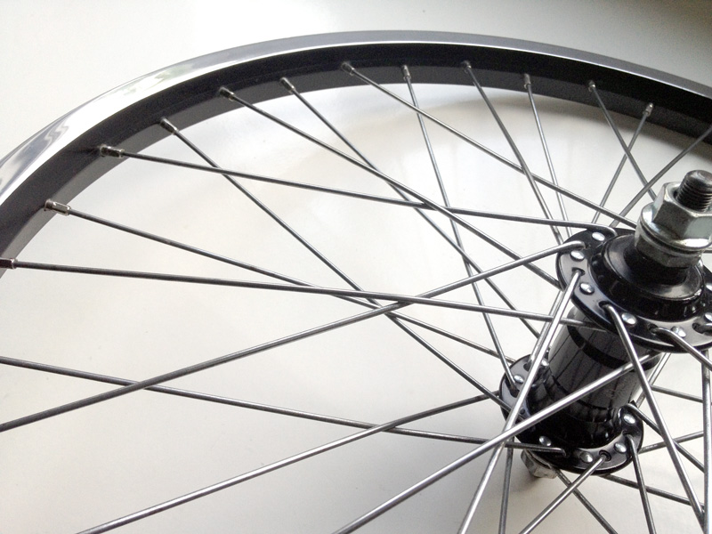 Alex BMX Rims black with polished shiny sides