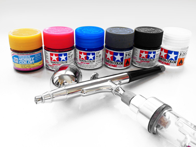 Tamiya acrylic supplies for Airbrushing BMX frame