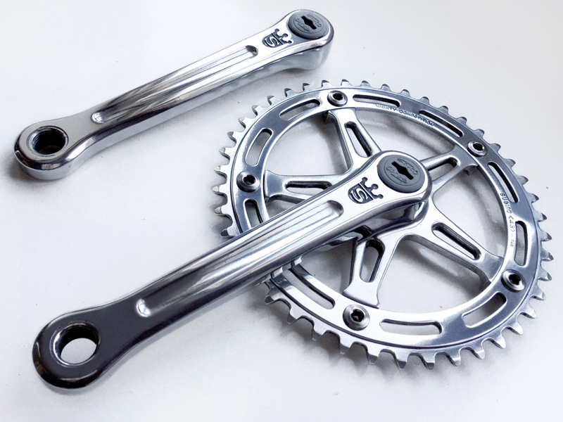 Polished Sugino Mighty Cranks