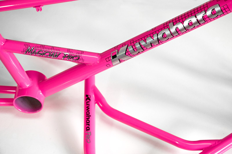 1987 Kuwahara Magician Pro neon pink powder coat and custom decals