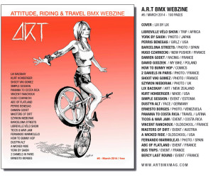 Art BMX Webzine #6 cover and interview by Lix North