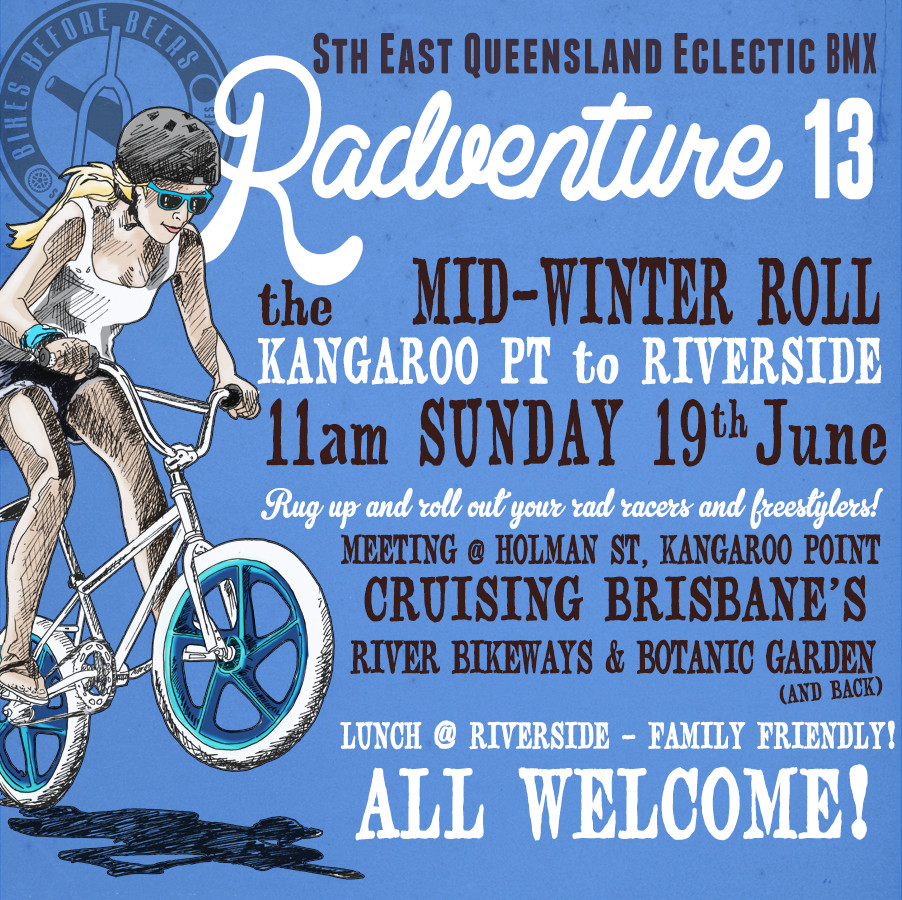 Radventure 13, June 2015 Brisbane City BMX ride